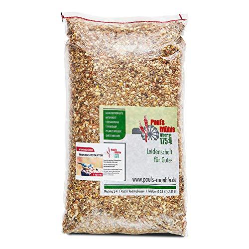 Paul´s Mühle Premium Ganzjahresfutter für Wildvögel mit extra hohem Fettanteil, Vogelfutter zur Ganzjahresfütterung, Senkrechtstarter, 5 kg