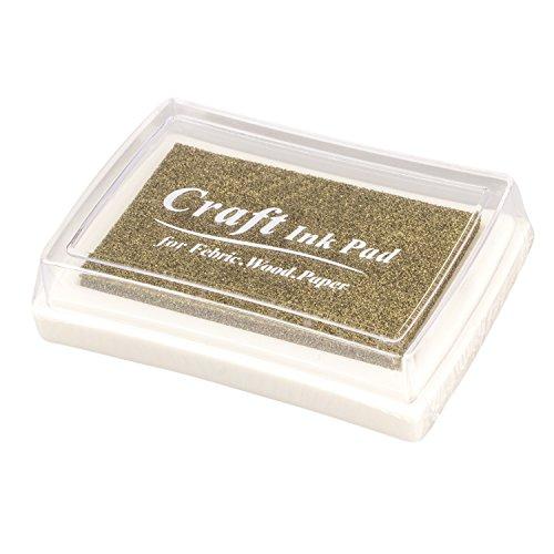 ACAMPTAR - Almohadilla de tinta para sello de goma, color dorado