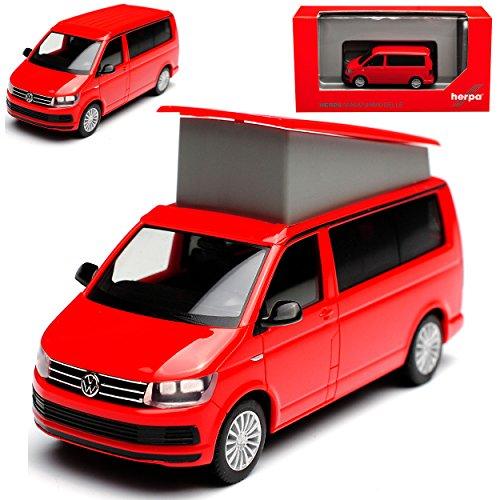 Herpa Volkwagen T6 California Personen Transporter Kirsch Rot T5 Ab 2. Facelift 2015 H0 1/87 Modell Auto mit individiuellem Wunschkennzeichen