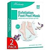 Mixbeauty Fußmaske 2 Paar, Fußpeeling Hornhaut Socken, Hornhaut Entfernung Fußpeeling Maske, Fussmaske hornhautentferner für Samtweiche und Zarte Füße (Lavendelduft)