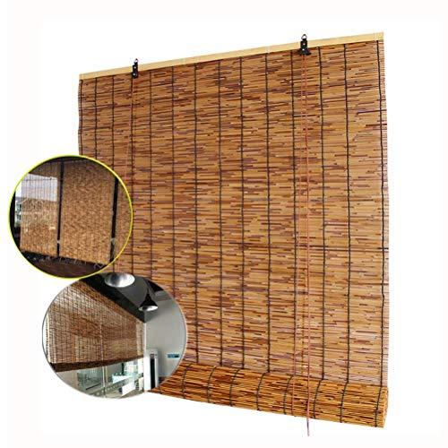 Fvfk Bambusrollo/BambusRollo/Bambusrollladen, Rollladen-Lamellenrollos, Vintage - Handarbeit, Sonnenschutz, Vorhangdekoration, Anpassbar, Innen - Außen