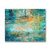 Verde abstracto arte de la pared impresión de póster sin marco lienzo pintura y caligrafía imagen sala de estar decoración del hogar B1 80x60cm Sin marco