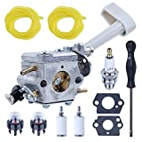 Adefol RY08420A Backpack Leaf Blower Carburetor and Carb Adjusting Tools for Ryobi BP42 RY08420 with Fuel Filter Line Replacement Parts for 308054079 530069247