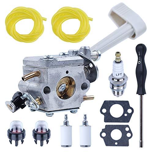 RY08420A Mochila Soplador de hojas Carburador y carbohidratos Herramientas de ajuste para Ryobi BP42 RY08420 con línea de filtro de combustible Piezas de repuesto para 308054079 530069247