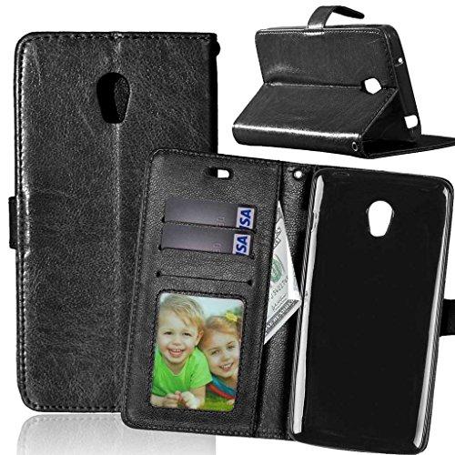 FUBAODA für Lenovo Vibe P1 Hülle,[Kostenlos Syncwire Ladekabel] Flip Leder Money Brieftasche,Klassiker,Ständer,Handyhülle Phone Tasche Hülle für Lenovo Vibe P1(P1c72 P1c58)(schwarz)