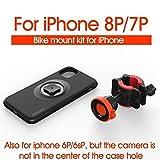 自転車アクセサリー IPhone 11プロマックスのための耐衝撃ケース保護スタンド付きバイク自転車オートバイハンドルマウントホルダー携帯電話バッグホルダー アクセサリーホルダー (Color : Mount Kit For i8P 7P)