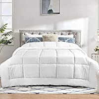 Queen Comforter Insert Size: 88inches X 88inches. Box Style Stitching fluffy comforter - The comforter designed with classic box pattern prevent the fill from shifting. Ultra Soft down comforter - This bed comforter is made of super Microfiber and Hy...