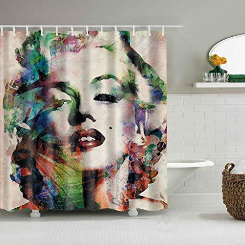 Duschvorhang Marilyn Monroe Duschvorhang Sexy Marilyn Monroe Print Frau Bad Bad Wasserdicht Hohe Duschvorhang