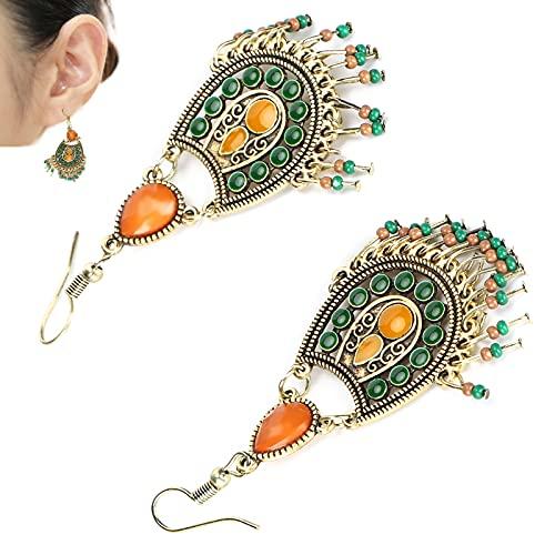 Boucles d'oreilles femme, boucles d'oreilles colorées - boucles d'oreilles pendantes en forme de rouille boucles d'oreilles légères pour les fêtes d'anniversaire pour les mariages pour les