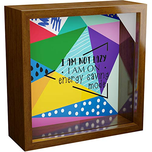 Gifts for Teen Girls and Boys 6x6x1.90 Wooden Shadow Box Cool Memory Frame with Glass Front for Teenager Great Gift for Teenage Girl or Boy Room Decor Fun Art Presents for Teens