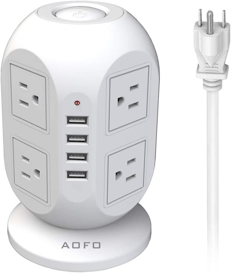 Sales for sale 25% OFF Power Strip Tower AOFO Surge Protector 8 Outlets P USB AC 4 with