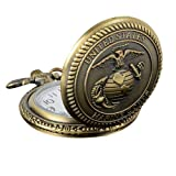 Homeofying - Reloj de bolsillo de cuarzo para hombre, diseño de águilas marinas, estilo retro, color bronce
