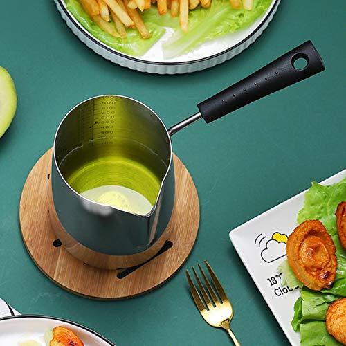XATAKJJ 304 friggitrice in Acciaio Inossidabile per Uso Domestico Piccola friggitrice a Basso consumo di Carburante Mini Padella Padella per Il Latte Cucina Bar da Pranzo pentole