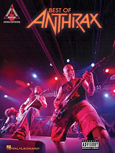 Best Of Anthrax Guitar Recorded Versions Gtr Tab Book