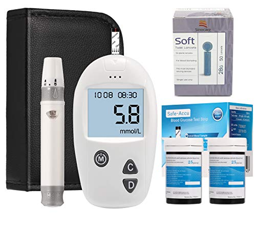 Sinocare Blood Glucose monitoring kit Diabetes test kit blood sugar testing kit Codefree pack 50 strips For UK Diabetics (Eligible for VAT relief in the UK)