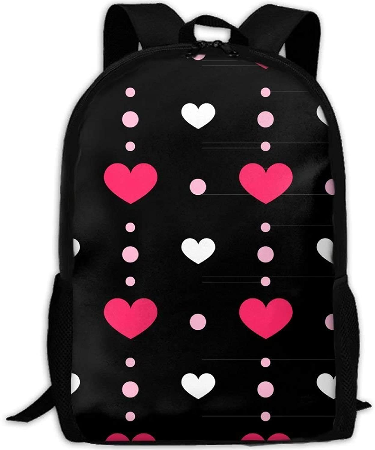 Student Backpack, School Backpack for Laptop,Most Durable Lightweight Cute Travel Water Resistant School Backpack - Creative MEI rot Love Seamless B07PZKMV36  Umweltfreundlich