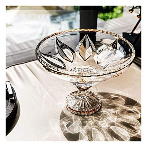 WEI-LUONG Comedor Estilo Europeo Grande cristalino de Cristal del Cuenco de Fruta Home Living Fruta Frutero Cocina