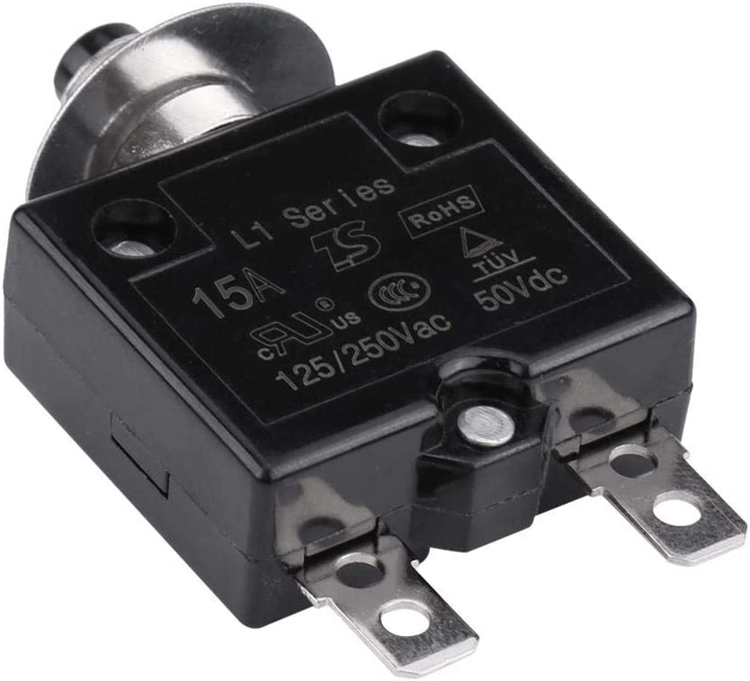 10A Suuonee Overload Protector Manual Reset Thermal Switch Circuit Breaker Over Current Overload Protector