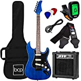 Best Choice Products 39in Full Size Beginner Electric Guitar Starter Kit w/Case, Strap, 10W Amp,...