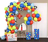 FAST SETUP Toy Story Balloon Arch Kit & Balloon Garland Kit 16Ft with 2 Extra Balloon Stands & Pump | Video eBook Instruction | 122 Unpoppable Latex Coating Balloons | Ideal Toy Story Party Supplies