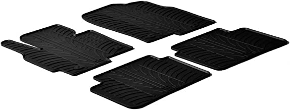 Black Gledring GL-0073 All Weather Rubber Floor Mats {fits 2009-2017 Volkswagen VW CC} 4 Piece Set