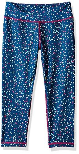 Amazon Essentials Mädchen Active Capri Legging, Blau (Confetti), 90 cm (Herstellergröße: US 2T )