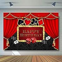 COMOPHOTO カジノパーティー背景 ポーカー ラスベガス パーティー 誕生日テーマ カジノ 夜 写真撮影 背景 デコレーション 小道具