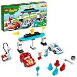 LEGO DUPLO Town Race Cars 10947 Cool Car-Race Building Toy; Imaginative, Developmental Playset for Toddlers and Kids; New 2021 (44 Pieces)