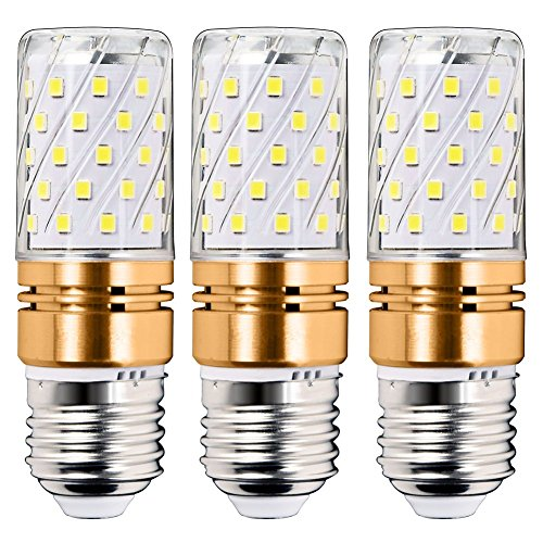 3 Pack E27 Candle Bulbs 12W Screw LED Light Bulbs, E27 LED Bulb LED Corn Bulbs, Screw LED Candle Bulbs, Warm White 3000K, Non-Dimmable [Energy Class A+]