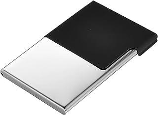 Housweety Men's Stainless Steel Business Name Card Case Holder Black