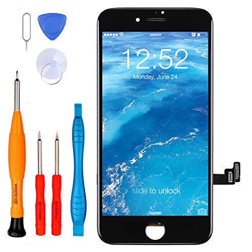 """LL TRADER Écran pour iPhone Se 2020 Ecran, iPhone Se 2e génération 4,7"""" LCD et Ecran Complet Tactile de Remplacement en Verre d'Assemblage de Numériseur + Outils de Réparation Noir"""