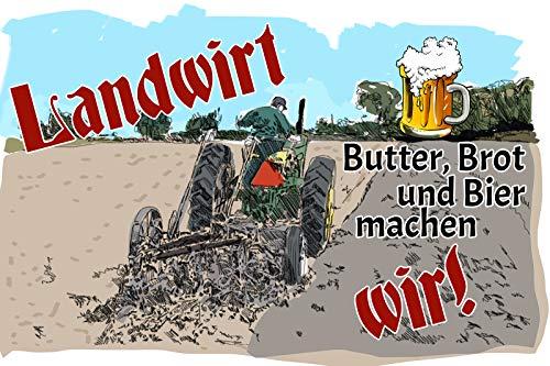 FS spreuk landbouwer - boter, brood en bier maken wij! Metal Sign Metal Sign 20 x 30 cm