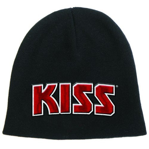 Kiss Red On White Logo Official Beanie Hat