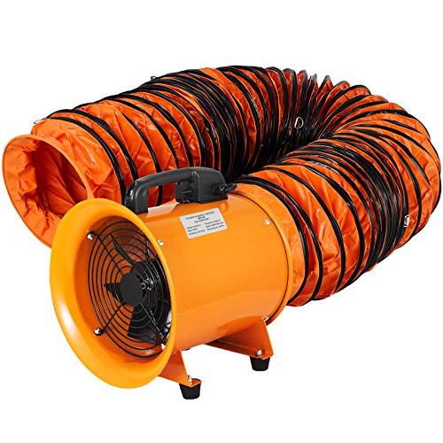 OrangeA Utility Blower Fan 8 inch Portable Ventilator High Velocity