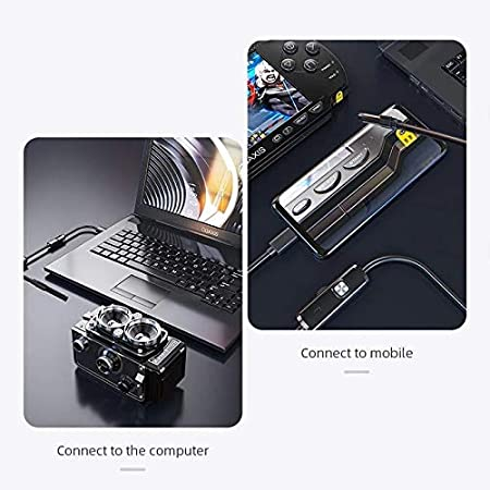 Yuui Waterproof Endoscope for Car Inspection /& Electronics 3-in-1 Type-C Industrial Pipeline Endoscope