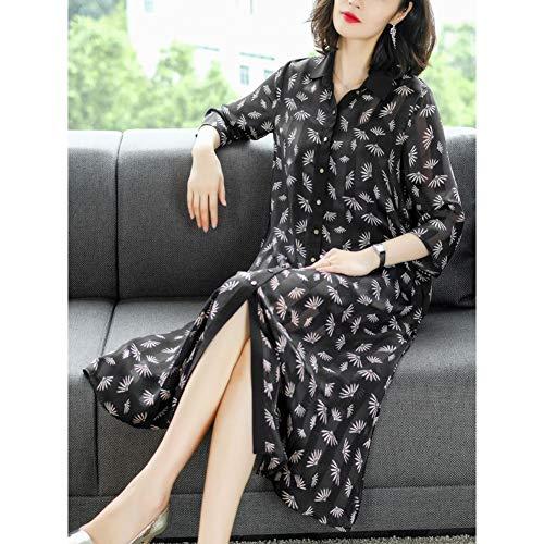 BINGQZ Cocktail Jurken Dress zomer vrouwen populaire Taiwan bloemenrok lente en herfst over de knie shirt rok