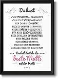 Bild mit Rahmen - Für die beste Mama der Welt