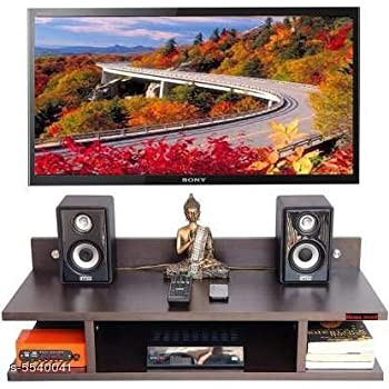 S.A.Wooden Floating Set top Box Wall Stand Brown(8 * 21 * 4.5) inches (MDF-Medium Density Fiber) Home Decoration