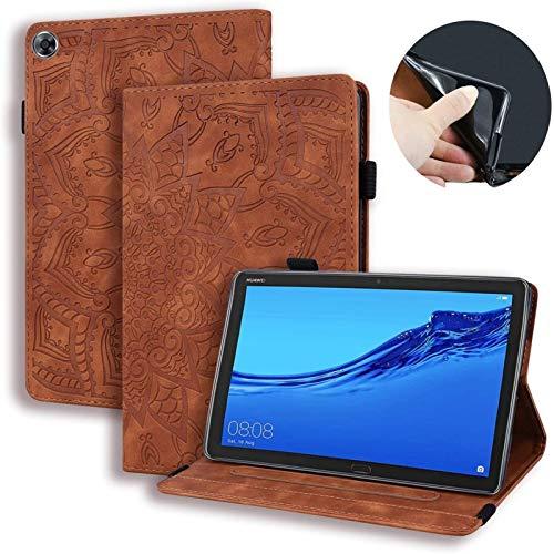 Accesorios De Pestañas para Huawei MediApad M5 Lite 8 JDN2-W09 JDN2-AL00, PU Cuero En Relieve con Estampado De Flores En Relieve para Huawei Honor 5 Caso 8' (Color : 1)