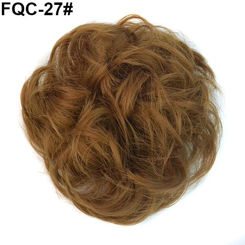 Qingsb Extension de cheveux ondulés décoiffés pour femme