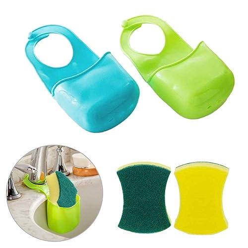 EQLEF® 2 PCS Boîte de rangement éponge rack panier Débarbouillette Savons de toilette Shelf Organizer Cuisine Salle de bain Gadgets Sink Shelving Sac