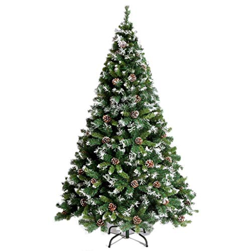 Weihnachtsbäume Künstliche Weihnachtsbäume Der skandinavische Weihnachtsbaum aus Blaufichte for Weihnachten (1,8 m) enthält Tannenzapfen mit einfach zu bauenden, grün klappbaren Zweigen Weihnachtsbäum