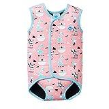Splash About Baby Wrap Wetsuit Traje de Neopreno, Infantil, Rosa (Nina'S Ark), 6-18 Meses