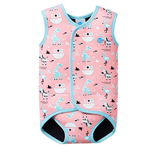 Splash About Baby Wrap Wetsuit Traje de Neopreno, Infantil, Rosa (Nina