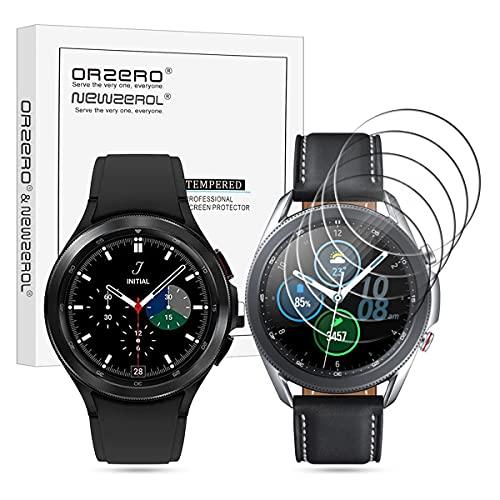 NEWZEROL 5 Stücke Kompatibel für Samsung Galaxy Watch 4 Classic 46mm / Galaxy Watch 3 45mm Panzerglas [Geprüft] aus gehärtetem Glas, Hochauflösende Displayschutzfolie Blasenfreie Schutzfolie