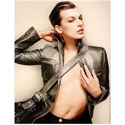 Milla Jovovich Posing in Jacket Wearing Bag 8 x 10 Inch Photo