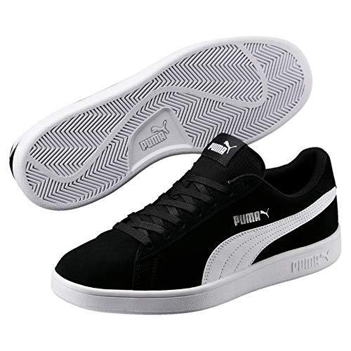 Puma Puma Smash v2, Sneakers Basses mixte adulte - Noir (Puma Black-Puma White-Puma Silver), 39 EU