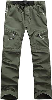 JIANYE Pantalon Trekking Hombre Mujer Zip Off Extra/íble Pantalon Senderismo Secado R/ápido Pantalones Monta/ña con Cintur/ón