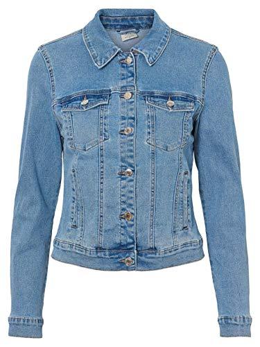 Vero Moda Vmhot SOYA LS Jacket Mix Noos Chaqueta, Azul (Light Blue Denim Light Blue Denim), 44 (Talla del Fabricante: X-Large) para Mujer
