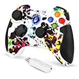 EasySMX Mando para PC, [Regalos] 2.4G Mandos PS3, Controller PS3/PC, Gamepad PC Wireless Compatible...